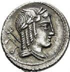 Photo numismatique  ARCHIVES VENTE 2017-6 oct - Coll Dr Y. Goalard RÉPUBLIQUE ROMAINE L. Julius Bursio (vers 85)  275- Denier.