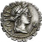 Photo numismatique  VENTE 6 oct 2017 - Coll Dr Y. Goalard et divers REPUBLIQUE ROMAINE C. Marius C.f. Capito, (vers 81)  276- Denier serratus.