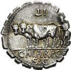 Photo numismatique  ARCHIVES VENTE 2017-6 oct - Coll Dr Y. Goalard RÉPUBLIQUE ROMAINE C. Marius C.f. Capito, (vers 81)  276- Denier serratus.
