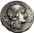 Photo numismatique  ARCHIVES VENTE 2017-6 oct - Coll Dr Y. Goalard RÉPUBLIQUE ROMAINE L. Rutilius Flaccus (vers 77)  280- Denier.
