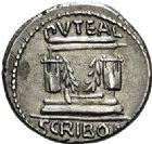 Photo numismatique  ARCHIVES VENTE 2017-6 oct - Coll Dr Y. Goalard RÉPUBLIQUE ROMAINE L. Scribonius Libo (vers 62)  281- Denier.