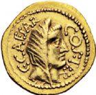 Photo numismatique  ARCHIVES VENTE 2017-6 oct - Coll Dr Y. Goalard RÉPUBLIQUE ROMAINE JULES CESAR (100-44)  282- Aureus, Rome, (46).