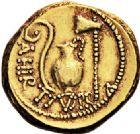 Photo numismatique  VENTE 6 oct 2017 - Coll Dr Y. Goalard et divers REPUBLIQUE ROMAINE JULES CESAR (100-44)  282- Aureus, Rome, (46).