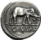 Photo numismatique  VENTE 6 oct 2017 - Coll Dr Y. Goalard et divers REPUBLIQUE ROMAINE JULES CESAR (100-44)  283- Denier, Gaule, (49-48).