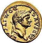 Photo numismatique  VENTE 6 oct 2017 - Coll Dr Y. Goalard et divers EMPIRE ROMAIN DOMITIEN César (69-81) Auguste (81-96)  294- Aureus frappé sous Vespasien, Rome, (après 73).