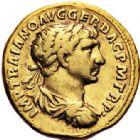 Photo numismatique  VENTE 6 oct 2017 - Coll Dr Y. Goalard et divers EMPIRE ROMAIN TRAJAN (98-117)  297- Aureus, Rome, (108-111).