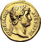 Photo numismatique  VENTE 6 oct 2017 - Coll Dr Y. Goalard et divers EMPIRE ROMAIN HADRIEN (117-138)  298- Aureus, Rome, (125-128).