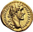 Photo numismatique  VENTE 6 oct 2017 - Coll Dr Y. Goalard et divers EMPIRE ROMAIN ANTONIN LE PIEUX (César 138 - Auguste 138-161)  302- Aureus, Rome, (156-157).