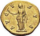 Photo numismatique  VENTE 6 oct 2017 - Coll Dr Y. Goalard et divers EMPIRE ROMAIN FAUSTINE mère (épouse d'Antonin +141)  305- Aureus, Rome, (après 141).
