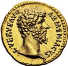 Photo numismatique  ARCHIVES VENTE 2017-6 oct - Coll Dr Y. Goalard EMPIRE ROMAIN LUCIUS VERUS (161-169)  307- Aureus, Rome, (décembre 163 - décembre 164).