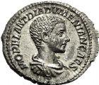 Photo numismatique  VENTE 6 oct 2017 - Coll Dr Y. Goalard et divers EMPIRE ROMAIN DIADUMEDIEN (César 217-218 - Auguste 218)  309- Denier, Rome, (218).
