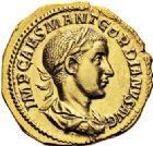 Photo numismatique  ARCHIVES VENTE 2017-6 oct - Coll Dr Y. Goalard EMPIRE ROMAIN GORDIEN III (César 238 - Auguste 238-244)  310- Aureus, Rome, (238-239).