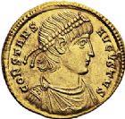 Photo numismatique  VENTE 6 oct 2017 - Coll Dr Y. Goalard et divers EMPIRE ROMAIN CONSTANCE II (César 324-337 - Auguste 337-361)  313- Solidus, Trèves, (347/348).