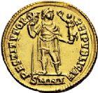 Photo numismatique  VENTE 6 oct 2017 - Coll Dr Y. Goalard et divers EMPIRE ROMAIN VALENS (Auguste 364-378)  314- Solidus, Nicomédie, (364/367).