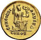 Photo numismatique  VENTE 6 oct 2017 - Coll Dr Y. Goalard et divers EMPIRE ROMAIN HONORIUS (393-423)  315-. Solidus, Constantinople, (397/402).