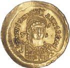 Photo numismatique  ARCHIVES VENTE 2017-6 oct - Coll Dr Y. Goalard PEUPLES BARBARES Les OSTROGOTHS ATHALARIC (526-534) 318- Solidus au nom de Justinien 1er (527-565), Rome, (527-534).