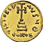 Photo numismatique  VENTE 6 oct 2017 - Coll Dr Y. Goalard et divers EMPIRE BYZANTIN TIBERE III APSIMAR (698-705)  319- Solidus, Constantinople.