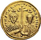 Photo numismatique  VENTE 6 oct 2017 - Coll Dr Y. Goalard et divers EMPIRE BYZANTIN CONSTANTIN VII et ROMAIN Ier (920-944)  321- Solidus, Constantinople.