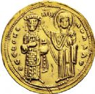Photo numismatique  VENTE 6 oct 2017 - Coll Dr Y. Goalard et divers EMPIRE BYZANTIN ROMAIN III ARGYRE (1028-1034)  322- Nomisma histaménon, Constantinople.