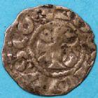 Photo numismatique  MONNAIES BARONNIALES Comté d'ANJOU GEOFFROI II et III (1040-1060-1069) Obole d'Angers.