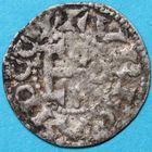 Photo numismatique  MONNAIES BARONNIALES Comté d'ANJOU FOULQUES V (1109-1129) Denier d'Angers.