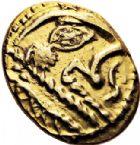 Photo numismatique  VENTE 6 oct 2017 - Coll Dr Y. Goalard et divers GAULE - CELTES OUEST DU BELGIUM BELLOVAQUES et AMBIANI 337- Statère d'or à l'astre, (vers 60-25).