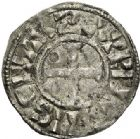 Photo numismatique  VENTE 6 oct 2017 - Coll Dr Y. Goalard et divers ROYALES FRANCAISES PHILIPPE Ier (4 août 1060-29 juillet 1108)  345- Denier du 2ème type, frappé à Orléans.