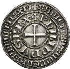 Photo numismatique  ARCHIVES VENTE 2017-6 oct - Coll Dr Y. Goalard ROYALES FRANCAISES PHILIPPE IV LE BEL (5 octobre 1285-30 novembre 1314)  346- Gros tournois à l'O rond (1305?).