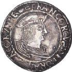 Photo numismatique  VENTE 6 oct 2017 - Coll Dr Y. Goalard et divers ROYALES FRANCAISES FRANCOIS I (1er janvier 1515–31 mars 1547)  349- Teston du 15e type, Saint-Pourçain (point 11e).