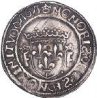 Photo numismatique  ARCHIVES VENTE 2017-6 oct - Coll Dr Y. Goalard ROYALES FRANCAISES FRANCOIS I (1er janvier 1515–31 mars 1547)  349- Teston du 15e type, Saint-Pourçain (point 11e).