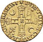 Photo numismatique  VENTE 6 oct 2017 - Coll Dr Y. Goalard et divers ROYALES FRANCAISES HENRI II (31 mars 1547-10 juillet 1559)  350- Double Henri d'or, Rouen, ?1551 B.