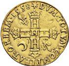 Photo numismatique  ARCHIVES VENTE 2017-6 oct - Coll Dr Y. Goalard ROYALES FRANCAISES HENRI II (31 mars 1547-10 juillet 1559)  351- Double Henri d'or, La Rochelle, 1558 H.
