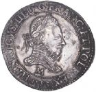 Photo numismatique  ARCHIVES VENTE 2017-6 oct - Coll Dr Y. Goalard ROYALES FRANCAISES HENRI III (30 mai 1574–2 août 1589)  352- Franc au col fraisé, Toulouse, 1583 M.