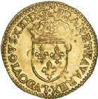Photo numismatique  VENTE 6 oct 2017 - Coll Dr Y. Goalard et divers ROYALES FRANCAISES LOUIS XIII (16 mai 1610-14 mai 1643)  353- Écu d'or, 1er type, Rouen, ?1615 B.