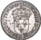 Photo numismatique  ARCHIVES VENTE 2017-6 oct - Coll Dr Y. Goalard ROYALES FRANCAISES LOUIS XIV (14 mai 1643-1er septembre 1715)  354- Écu à la mèche longue, Montpellier, 1649 N.