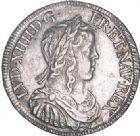 Photo numismatique  VENTE 6 oct 2017 - Coll Dr Y. Goalard et divers ROYALES FRANCAISES LOUIS XIV (14 mai 1643-1er septembre 1715)  355- 1/2 écu à la mèche longue, Bourges, 1648 Y.