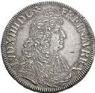 Photo numismatique  VENTE 6 oct 2017 - Coll Dr Y. Goalard et divers ROYALES FRANCAISES LOUIS XIV (14 mai 1643-1er septembre 1715)  357- Écu à la cravate du 1er type, Bordeaux, 1682 K.