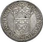 Photo numismatique  ARCHIVES VENTE 2017-6 oct - Coll Dr Y. Goalard ROYALES FRANCAISES LOUIS XIV (14 mai 1643-1er septembre 1715)  357- Écu à la cravate du 1er type, Bordeaux, 1682 K.