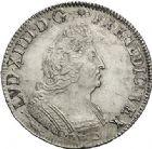 Photo numismatique  ARCHIVES VENTE 2017-6 oct - Coll Dr Y. Goalard ROYALES FRANCAISES LOUIS XIV (14 mai 1643-1er septembre 1715)  359- Écu aux insignes avec buste du type aux palmes, Lille, 1702 W.