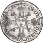 Photo numismatique  ARCHIVES VENTE 2017-6 oct - Coll Dr Y. Goalard ROYALES FRANCAISES LOUIS XIV (14 mai 1643-1er septembre 1715)  361- 1/2 écu aux 8 L, 2e type, Rennes, 1704 9.