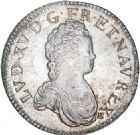 Photo numismatique  VENTE 6 oct 2017 - Coll Dr Y. Goalard et divers ROYALES FRANCAISES LOUIS XV (1er septembre 1715-10 mai 1774)  363- Écu vertugadin, Paris 1717 A.