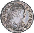 Photo numismatique  ARCHIVES VENTE 2017-6 oct - Coll Dr Y. Goalard ROYALES FRANCAISES LOUIS XV (1er septembre 1715-10 mai 1774)  364- Écu de Navarre «Westphalien», Reims, 1718 S.
