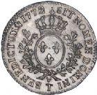 Photo numismatique  ARCHIVES VENTE 2017-6 oct - Coll Dr Y. Goalard ROYALES FRANCAISES LOUIS XV (1er septembre 1715-10 mai 1774)  366- 1/2 écu aux branches d'olivier et à la vieille tête, Nantes, 1772 T.