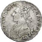 Photo numismatique  ARCHIVES VENTE 2017-6 oct - Coll Dr Y. Goalard ROYALES FRANCAISES LOUIS XVI (10 mai 1774–21 janvier 1793)  368- Demi-écu aux branches d'olivier, frappé à Paris en 1789.