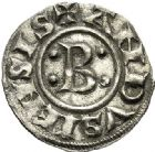 Photo numismatique  VENTE 6 oct 2017 - Coll Dr Y. Goalard et divers BARONNIALES Seigneuries d'ANDUSE et de SAUVE (XIIIe siècle) 369- Bernard II (jusque 1243). Denier, Sommières.