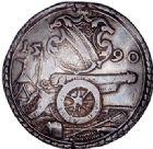 Photo numismatique  VENTE 6 oct 2017 - Coll Dr Y. Goalard et divers BARONNIALES Alsace - STRASBOURG  370- Municipalité. Thaler de tir, 1590.