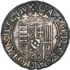 Photo numismatique  ARCHIVES VENTE 2017-6 oct - Coll Dr Y. Goalard BARONNIALES Duché de LORRAINE CHARLES III (1545-1608) 371- Gros ou 2 sols (?) en argent.