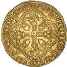 Photo numismatique  VENTE 6 oct 2017 - Coll Dr Y. Goalard et divers BARONNIALES Comté de FLANDRE LOUIS de MÂLE (1346-1384) 374- Franc d'or ou Cavalier, Gand 1361-1364.