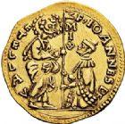 Photo numismatique  ARCHIVES VENTE 2017-6 oct - Coll Dr Y. Goalard MONNAIES DU MONDE MALTE ORDRE de SAINT JEAN de JÉRUSALEM. Jean de la Valette (1557-1568). 386- Sequin d'or.