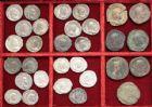Photo numismatique  VENTE 6 oct 2017 - Coll Dr Y. Goalard et divers LOTS DE MONNAIES EMPIRE ROMAIN  400- Lot de 23 antoniniens et 7 sesterces.
